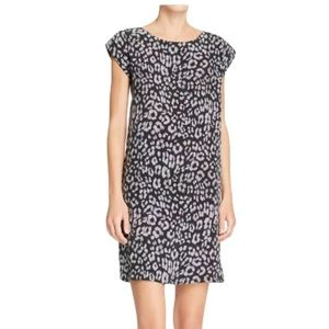 JOIE SILK LEOPARD PRINT CASUAL DRESS